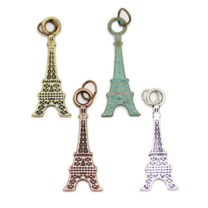 Multi-pack - Antique & Patina Mix Eiffel Tower Charms - 4pcsCharm by Halcraft Collection
