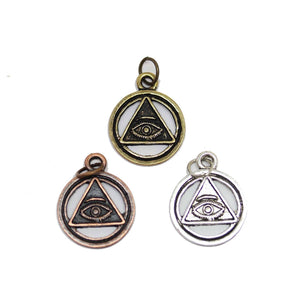 Multi-pack - Antique & Patina Mix Illuminati Charms - 3pcsCharm by Halcraft Collection