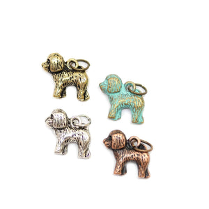 Multi-pack - Antique & Patina Mix Tone Poodle Charms - 4pcsCharm by Halcraft Collection