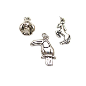 Multi-pack - Antique Silver Plated Animal Mix Charms - 3pcsCharm by Bead Gallery