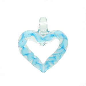 Lampwork Glass Heart 43x48mm  PendantPendant by Halcraft Collection