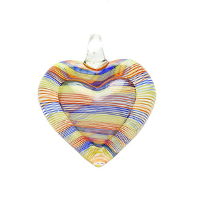 Lampwork Glass Heart 34x39mm  PendantPendant by Bead Gallery