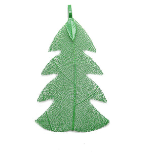 Green Coated Leaf 32x60mm  PendantPendant by Halcraft Collection