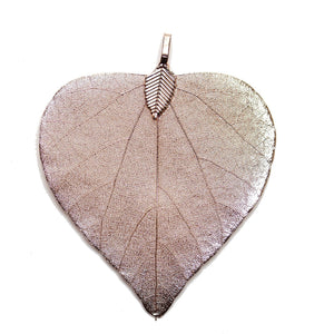 Rose Gold Tone Plated Heart Shaped Leaf 45x55mm  PendantPendant by Halcraft Collection