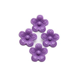 Purple Painted Zinc Alloy Metal Flower 14x14mm Charms - 4pcsCharm by Halcraft Collection