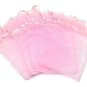 Pink Chiffon Bags 3.5x4.5 inches with drawstring closureBags by Bead Gallery