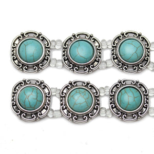 Turquoise Dyed Reconstituted Stone Slider 23mm Slider by Bead Gallery