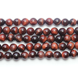 Red Tiger Eye Stone Round 8.5mm Beads