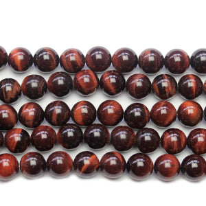 Red Tiger Eye Stone Round 10.5mm BeadsBeads by Halcraft Collection