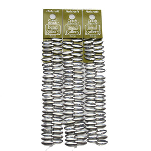 Super Bundle - Abalorios de plata de media capa con forma de daga checa de 5 x 16 mm (3 paquetes / 146 piezas) de Halcraft Collection