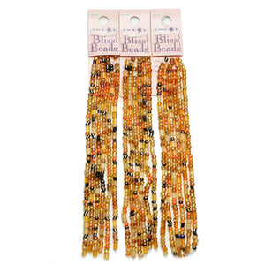 Super Bundle - Amber Czech Glass 6/0 Multi Bead Mix(3Packs/108Inches)Beads by Halcraft Collection