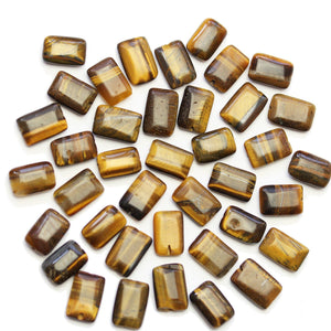 Super Bundle - Tiger Eye Stone Rectangle 8x12mm Beads(3Packs/36Pieces)Beads by Halcraft Collection