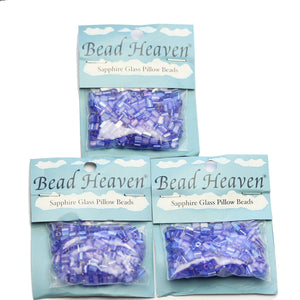 Super Bundle - Blue Czech Glass Rectangle 4x5mm Beads(3Packs/72Grams)Beads by Halcraft Collection