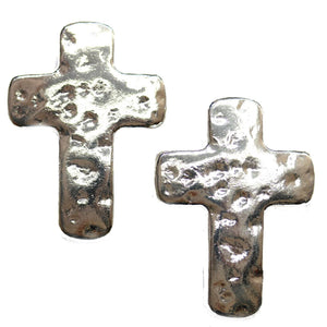 Super Bundle - Silver Tone Metal Cross 37x52mm Pendants(2Packs/2Pieces)Pendant by Halcraft Collection