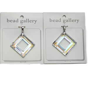 Super Bundle - Crystal AB Glass Diamond 30mm Pendants(2Packs/2Pieces)Pendant by Halcraft Collection