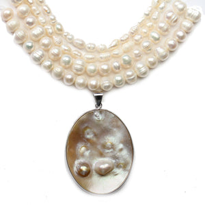 White Fresh Water Pearl Large BundleBeads by Halcraft Collection