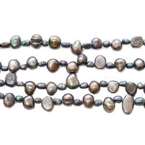 Black Dyed Fresh Water Pearl Beads Mix - Sizes Vary