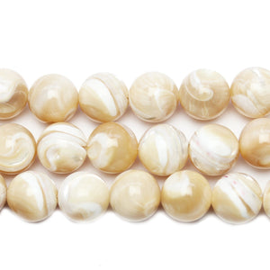 Natural Fancy Trochid Shell Round 12mm BeadsBeads by Halcraft Collection
