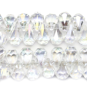 Crystal Glass Faceted Drop 12x14mm BeadsBeads by Halcraft Collection