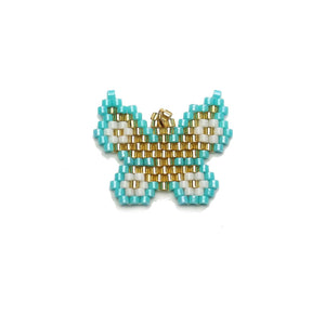 Miyuki Beaded Butterfly 21x23mm PendantPendant by Halcraft Collection