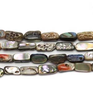 Abalone Tube 5x10mm Beads at Halcraft Collection