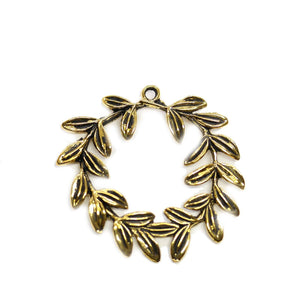 Gold Tone Metal Vine 38mm PendantPendant by Halcraft Collection