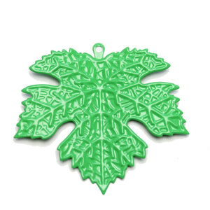 Green Painted Metal Maple Leaf Shape 52x57mm PendantPendant by Halcraft Collection