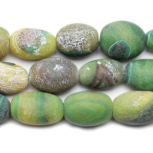 Dyed Crackle Agate Stone 12-14x20-23mm BeadsBeads by Halcraft Collection