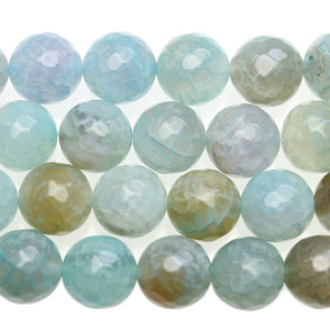 Crackle Agate Faceted Round 14mm Beads - Beads by Bead Gallery
