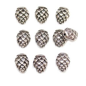 Antique Silver Plated Pinecone 12x15mm BeadsBeads by Halcraft Collection