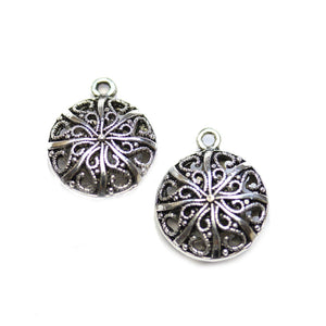 Silver Tone Filigree 19mm Charm - 2pcsCharm by Halcraft Collection