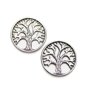 Silver Tone Tree of Life 24mm (no loop) Charm - 2pcsCharm by Halcraft Collection