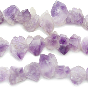 Natural Amethyst Stone Crystals 8-20mm Beads