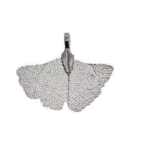 Silver Tone Plated Real Leaf Pendant 32x38mmPendant by Bead Gallery