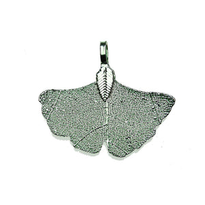 Green Tone Plated Real Leaf Pendant 32x38mmPendant by Bead Gallery