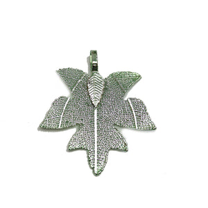 Green Tone Plated Real Leaf Pendant 33x38mmPendant by Bead Gallery