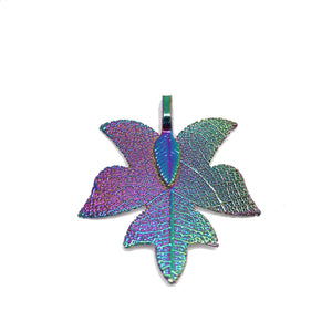 Multi Tone Plated Real Leaf Pendant 33x38mmPendant by Bead Gallery