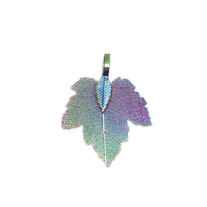 Multi Tone Plated Real Leaf Pendant 27x35mmPendant by Bead Gallery