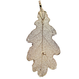 Gold Tone Plated Real Leaf Pendant 34x70mm, Approx.Pendant by Bead Gallery