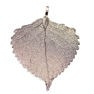Rose Gold Tone Plated Real Leaf Pendant 55x60mm, Approx.Pendant by Bead Gallery