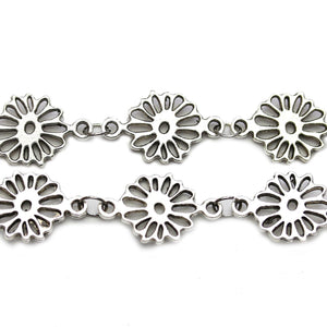 Silver Tone Flower Connectors 16mmConnector by Halcraft Collection