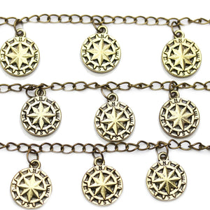 Brass Tone North Star 15mm Charm - 7pcsCharm by Halcraft Collection
