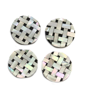 Philippine Mother of Pearl Mosaic 25mm BeadsBeads by Halcraft Collection