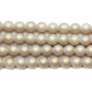 Glass Opaque Light Grey 8mm Round BeadsBeads by Halcraft Collection