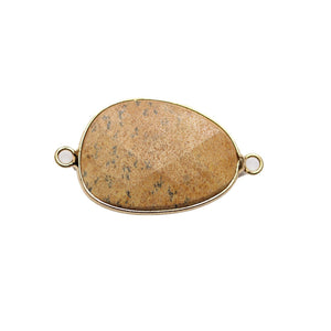 Picture Jasper Conector de piedra facetada 22x32mm Conector de Halcraft Collection