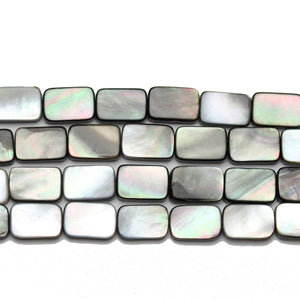 Black Lip Shell Rectangle 9x12mm BeadsBeads by Halcraft Collection