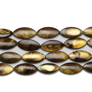Brown Dyed Shell Oval 7x17mm BeadsBeads by Halcraft Collection