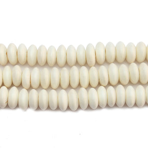 Philippine White Wood 10-11mm Heishe Rondell BeadsBeads by Halcraft Collection