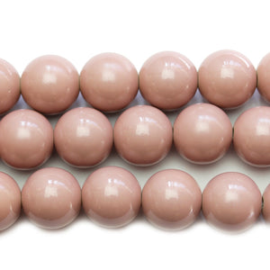 Round Dusky Rose Polished 16mm Acrylic Beads Beads