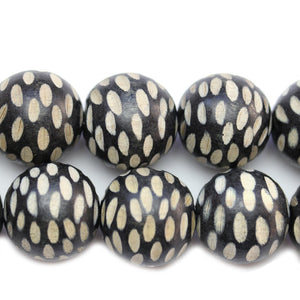 Philippine Black Wood 24-25mm Faceted Round BeadsBeads by Halcraft Collection